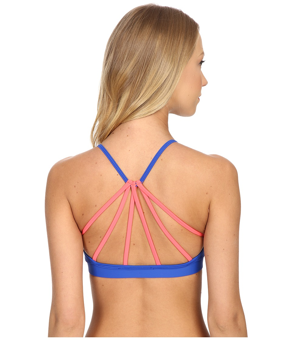 Onzie - Triangle Bra Top (Deep Royal/Watermelon) Women's Bra