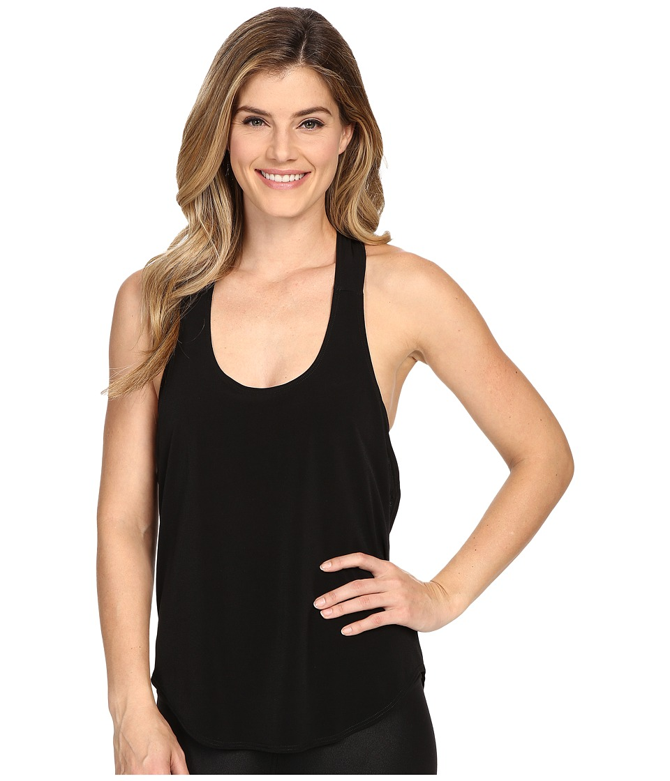 Onzie - Elastic Back Tank Top (Black/Deep Royal) Women's Sleeveless