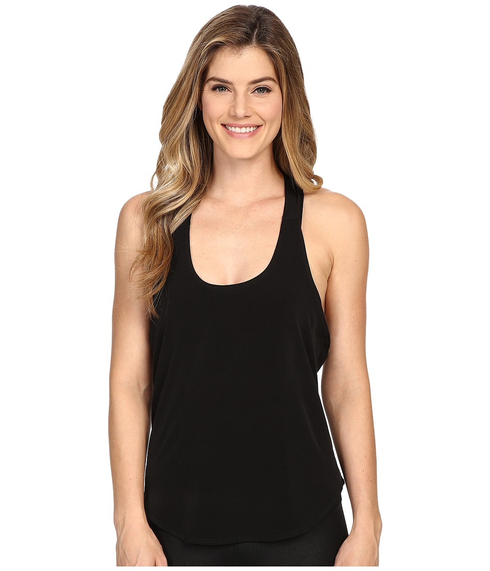 Onzie - Elastic Back Tank Top (Black/Lemon Lime) Women's Sleeveless