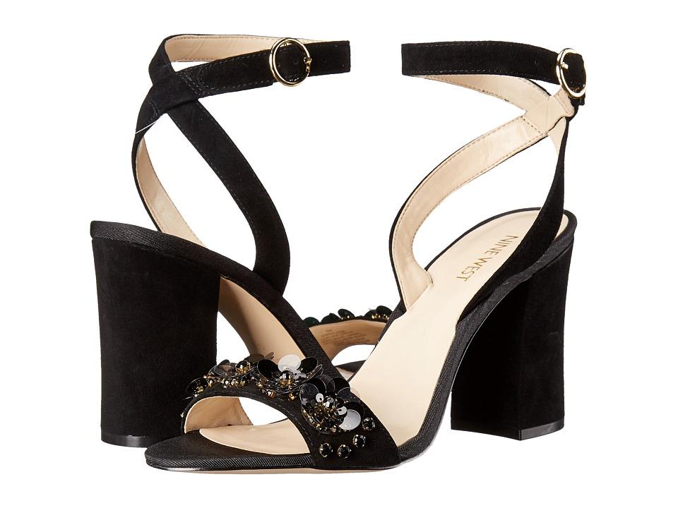 Nine West - Balada (Black Suede) High Heels
