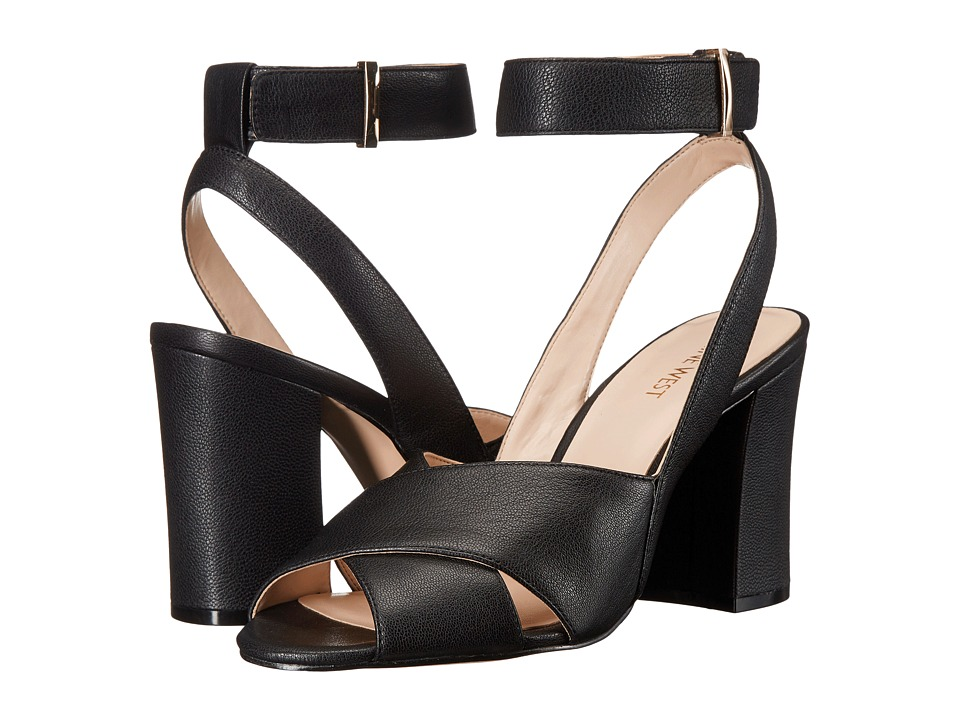 Nine West Blanche (Black Leather) High Heels