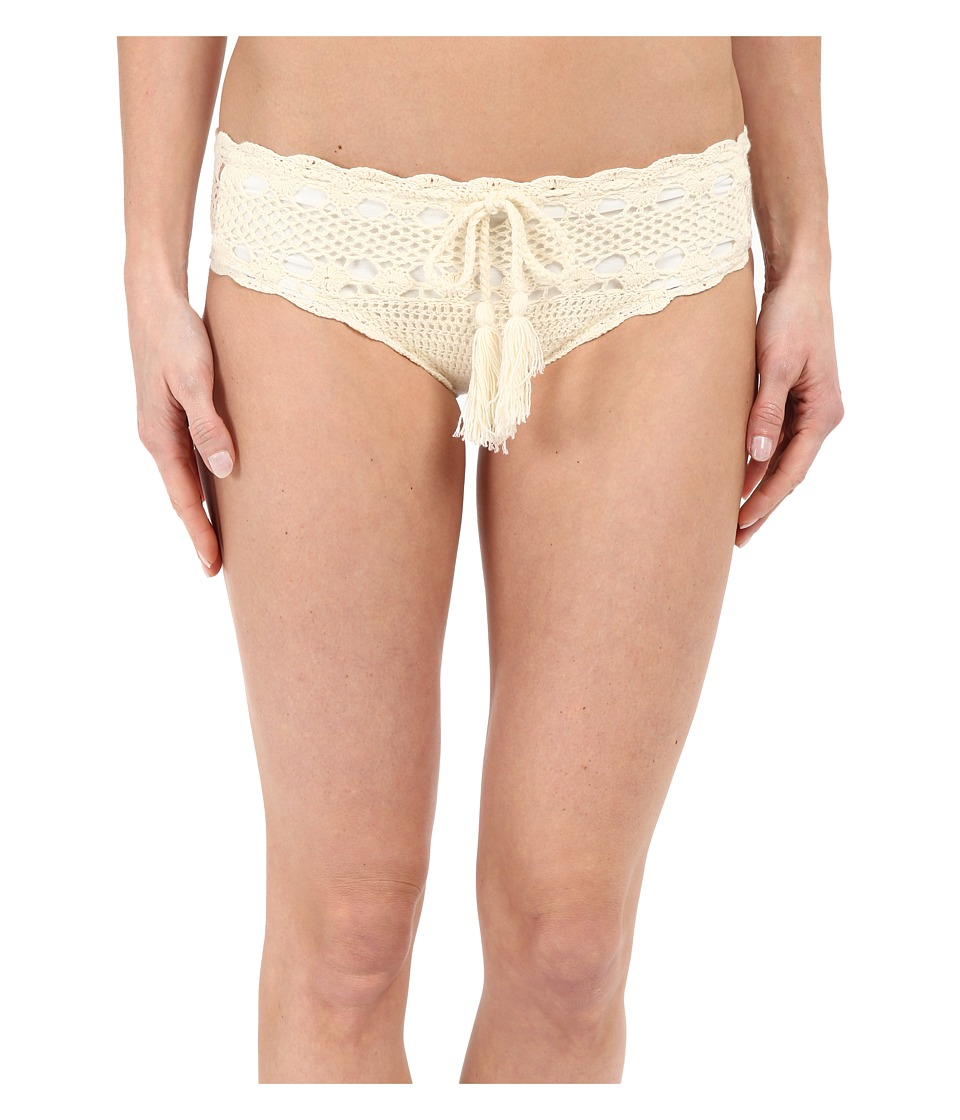 Vitamin A Swimwear Nightbird Cheeky Crochet Bottoms (Natural Crochet) Women