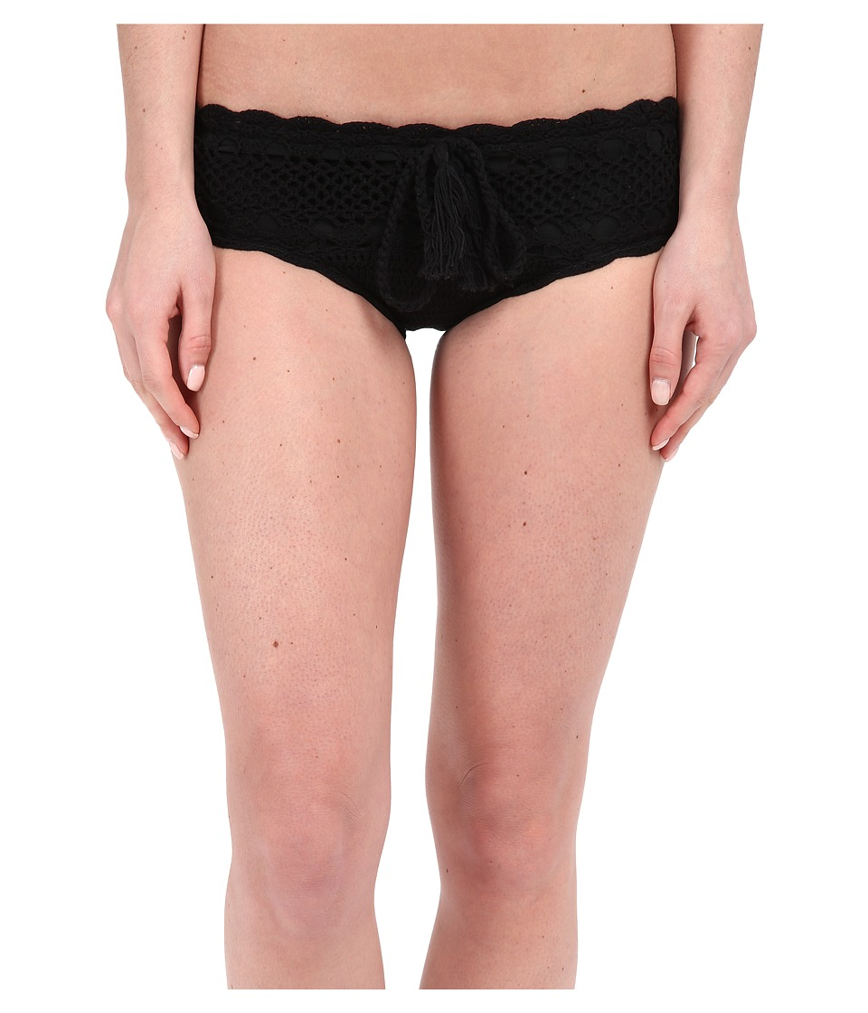 Vitamin A Swimwear - Nightbird Cheeky Crochet Bottoms (Black Crochet) Women's Swimwear
