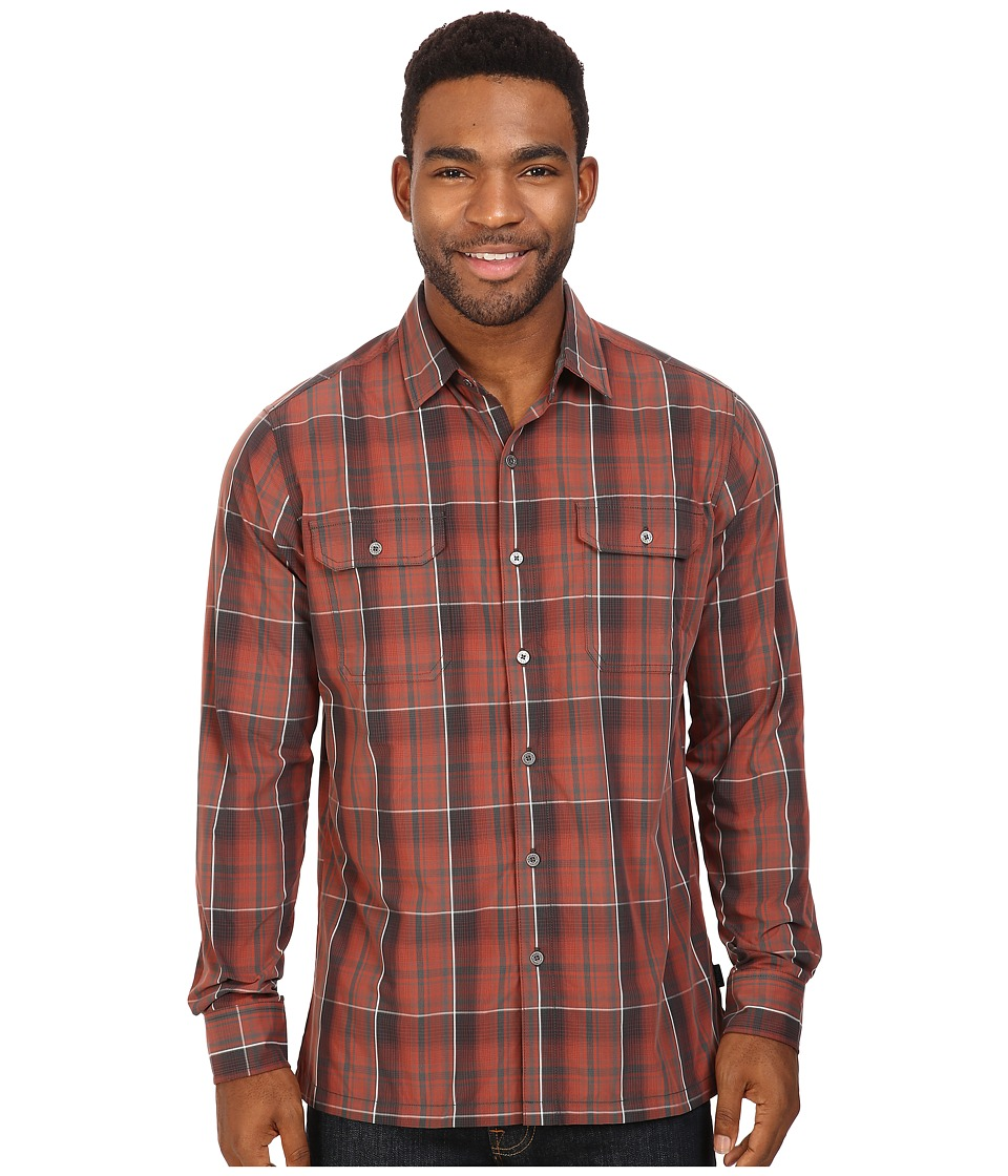 KUHL - Response L/S (Sundried Tomato) Men's Long Sleeve Button Up