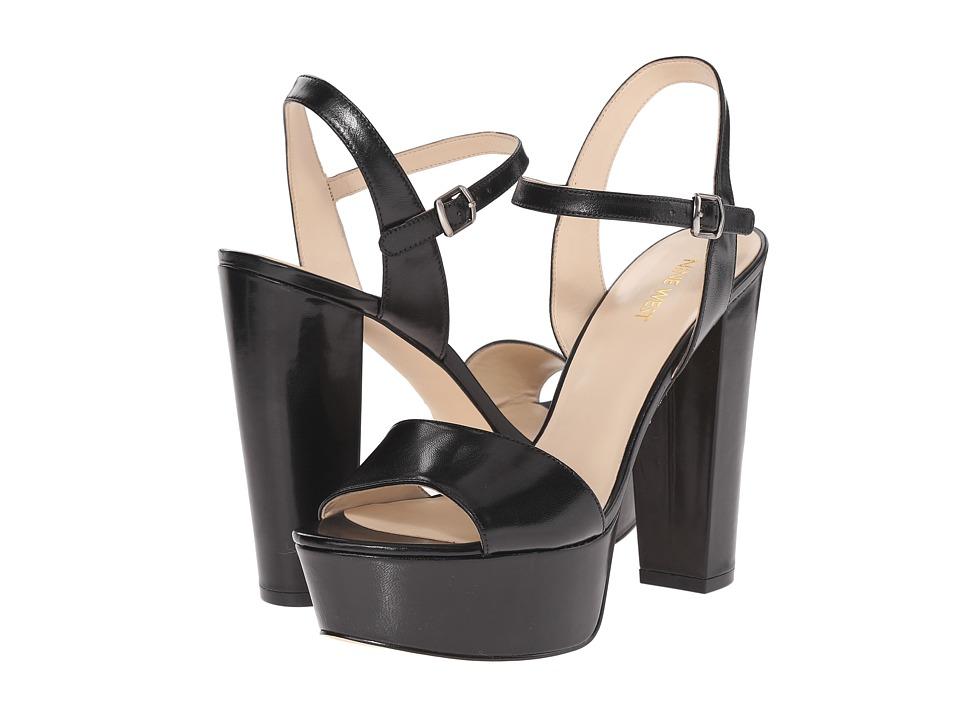 Nine West - Carnation (Black Leather 2) High Heels
