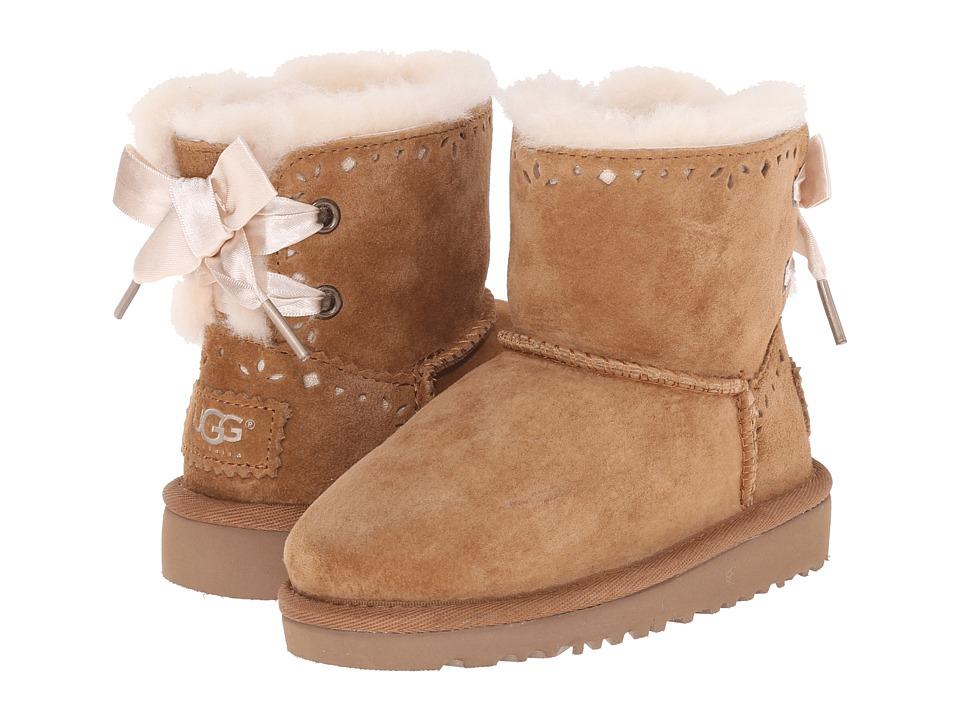 UGG Kids - Dixi Flora Perf (Toddler/Little Kid) (Chestnut) Girls Shoes
