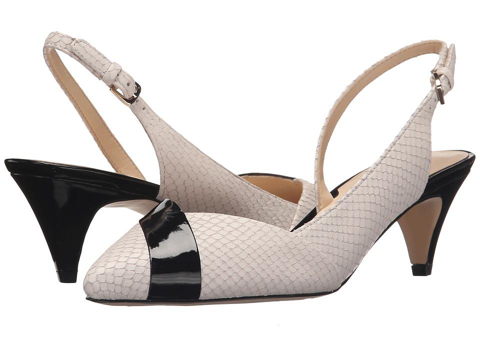 Nine West - Colbrina (Off-White/Black Leather) High Heels