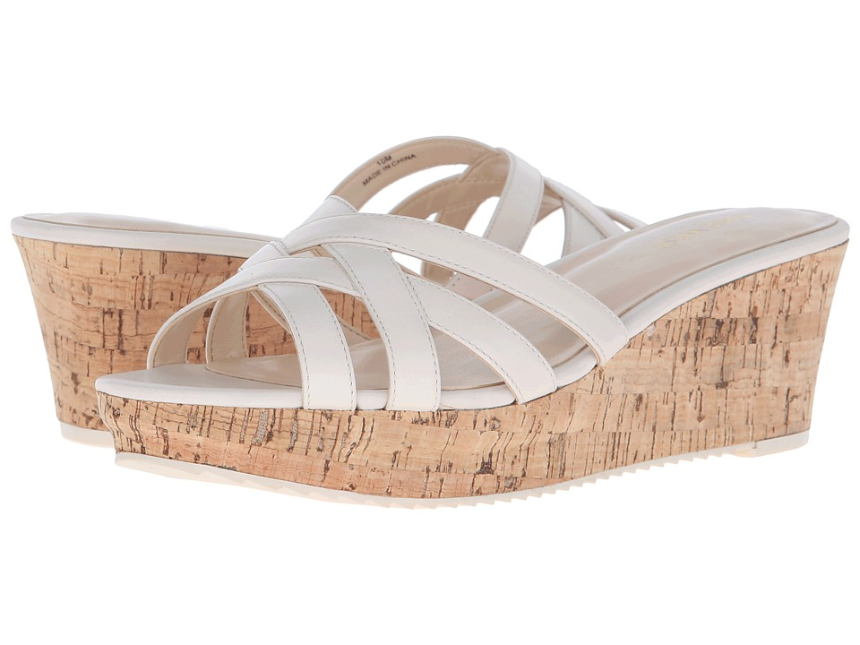 Nine West - Caserta (Off-White Leather) Women's Wedge Shoes