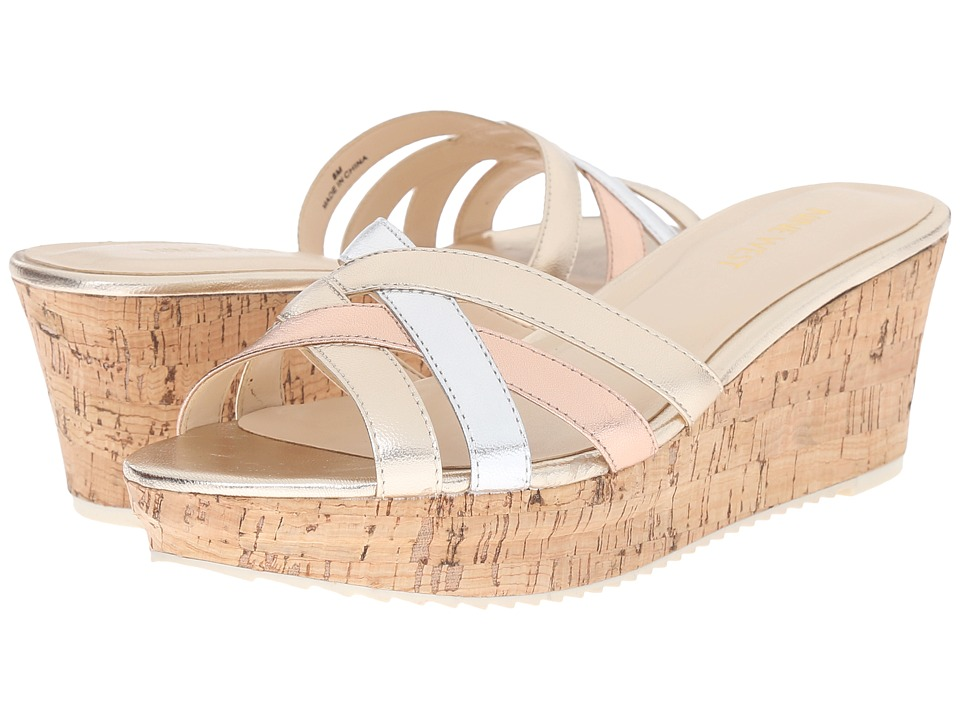 Nine West - Caserta (Light Gold Multi) Women's Wedge Shoes