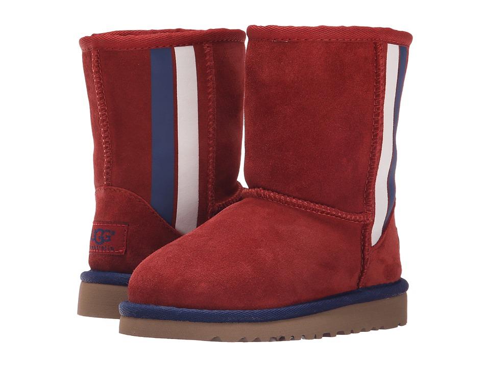UGG Kids - Classic Short Prix (Toddler/Little Kid) (Matador Red Suede) Girls Shoes