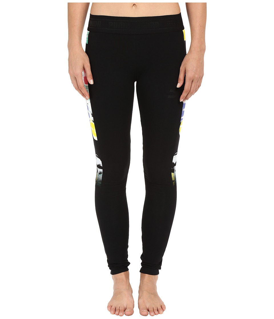 PUMA - Sugar Print Leggings (Black) Women's Clothing