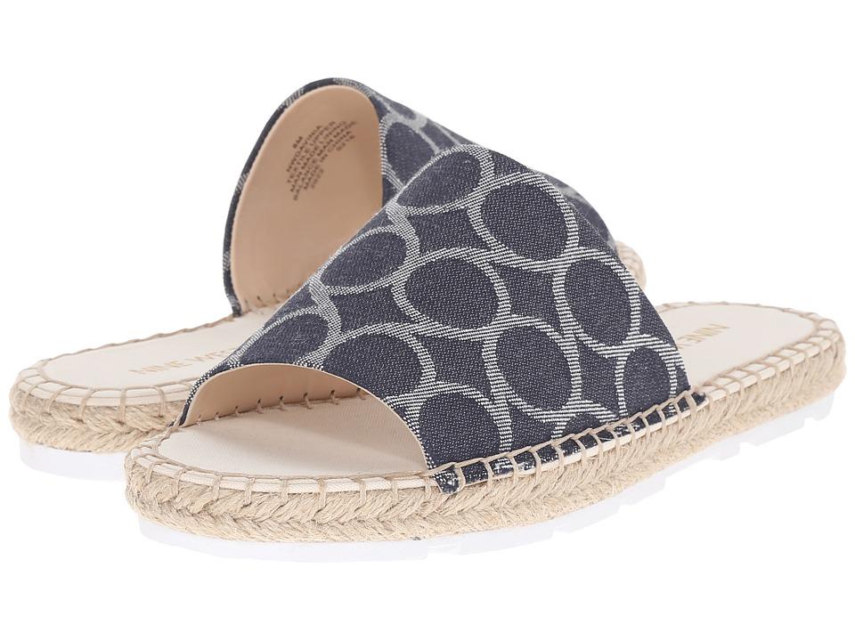 Nine West Davinia2 Blue Multi Fabric Sandals