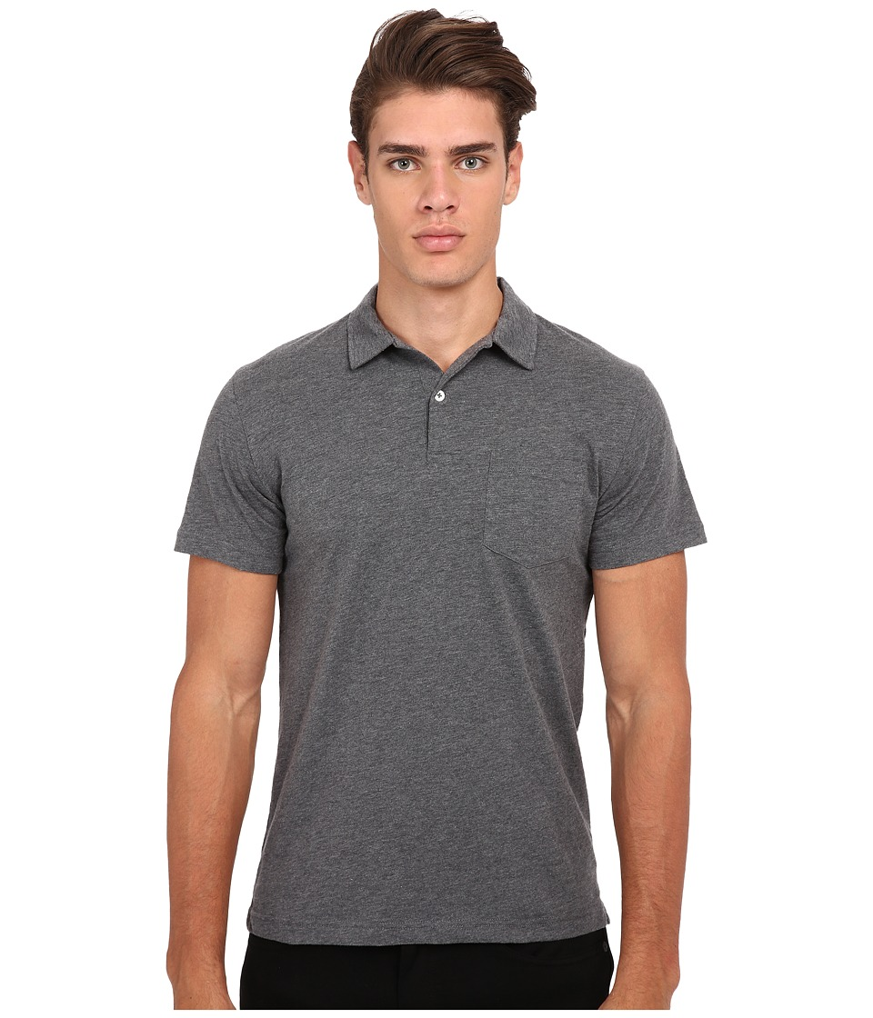 Gant Rugger - R. Chestpocket Polo (Dark Grey Melange) Men's Short Sleeve Pullover