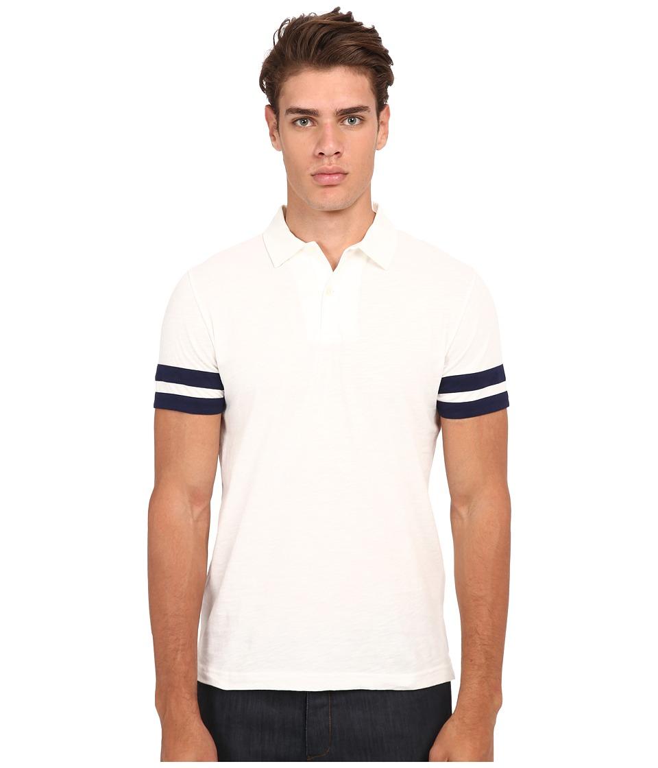 Gant Rugger - R. Sleevestripe Slub Polo (Off-White) Men's Short Sleeve Pullover