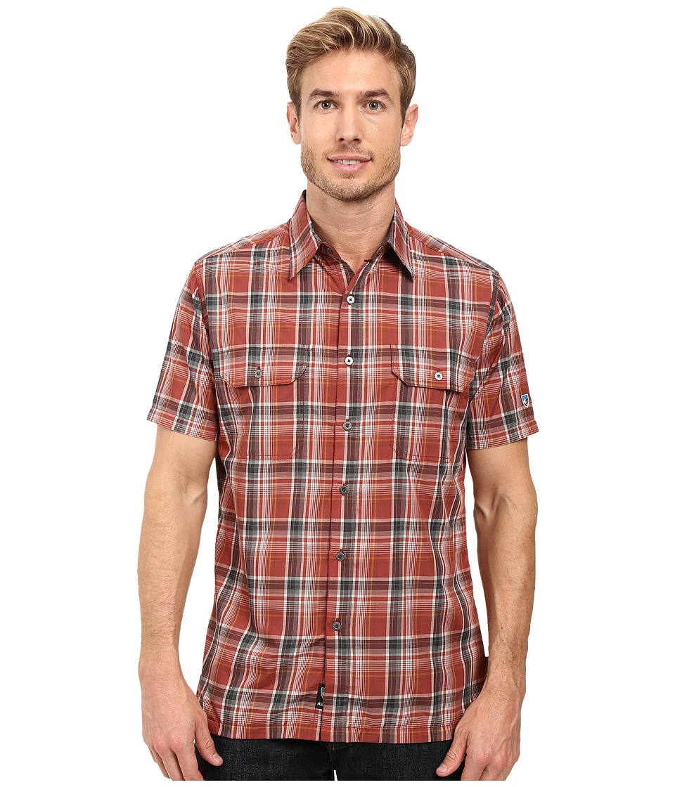 KUHL - Response Short Sleeve Shirt (Sundried Tomato) Men's Short Sleeve Button Up