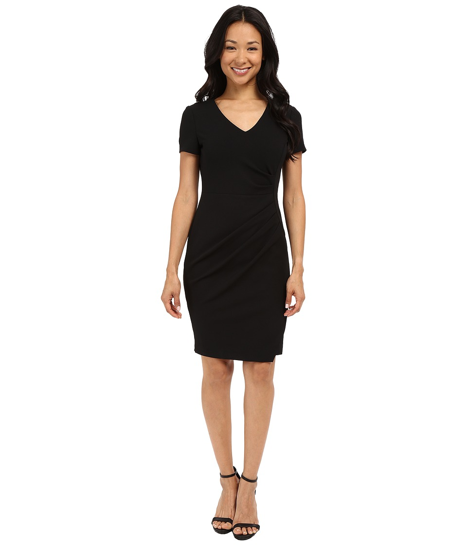 NYDJ - Rosie Stretch Crepe Dress (Black) Women's Dress