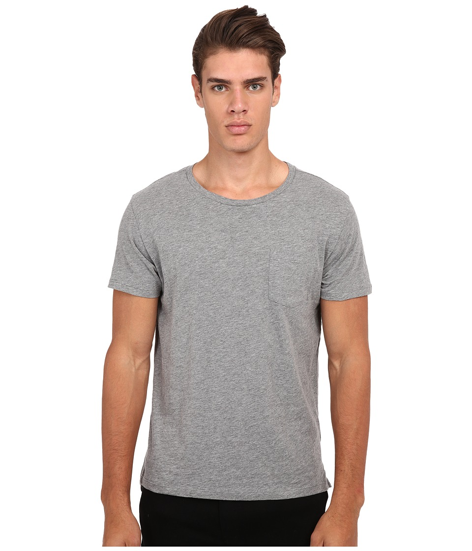Gant Rugger - R. Slit Tee (Grey Melange) Men's T Shirt