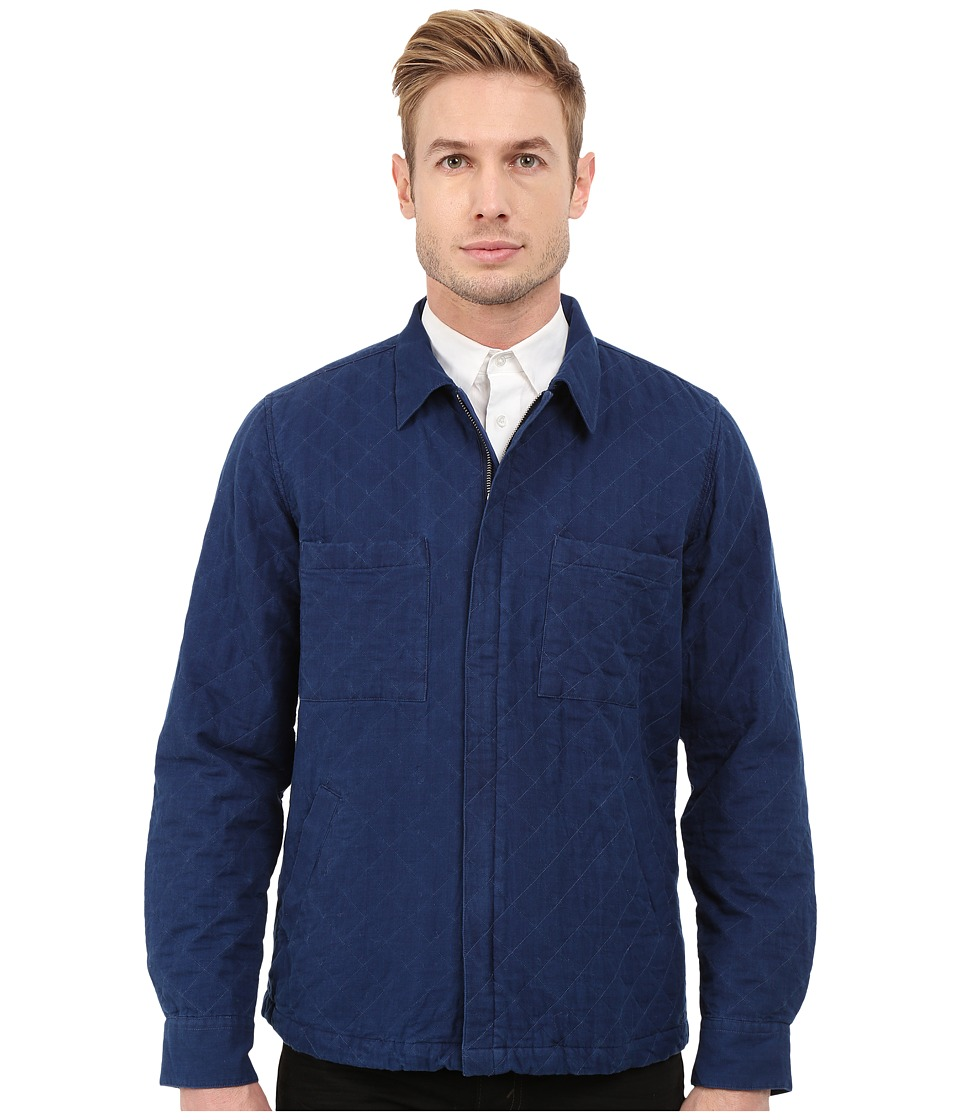 Gant Rugger - R. Indigo Twill Shirt Jacket (Indigo Blue) Men's Jacket