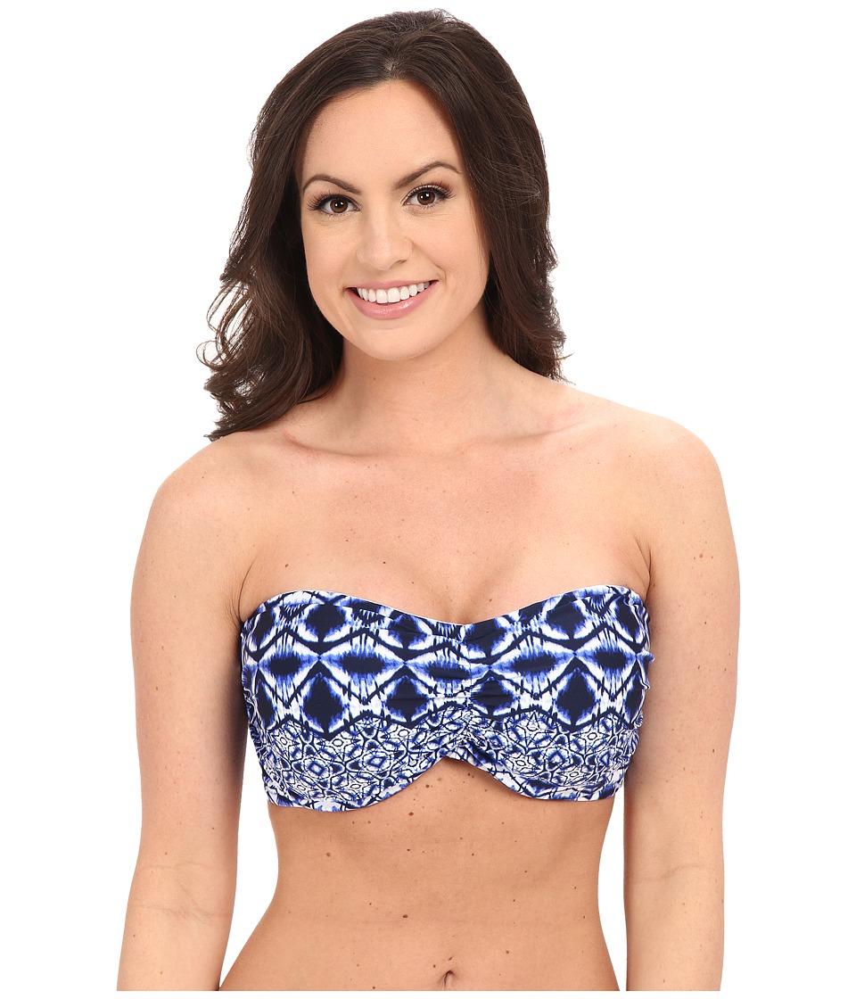 La Blanca - Tangier Bandeau Top (D-Cup/DD-Cup/E-Cup) (Blueberry) Women's Swimwear