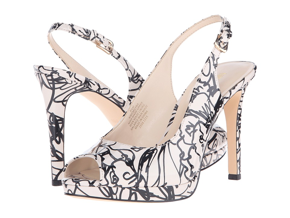 Nine West - Emilyna3 (Off-White/Black Synthetic) Women's Shoes