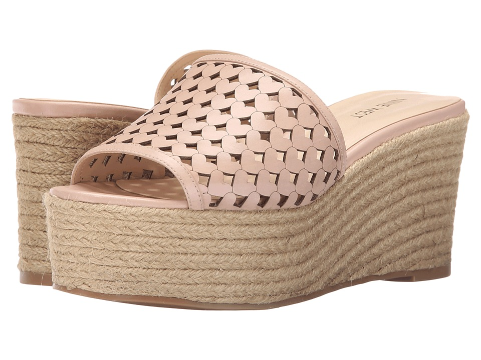 Nine West - Ertha (Light Natural Leather) Women's Wedge Shoes