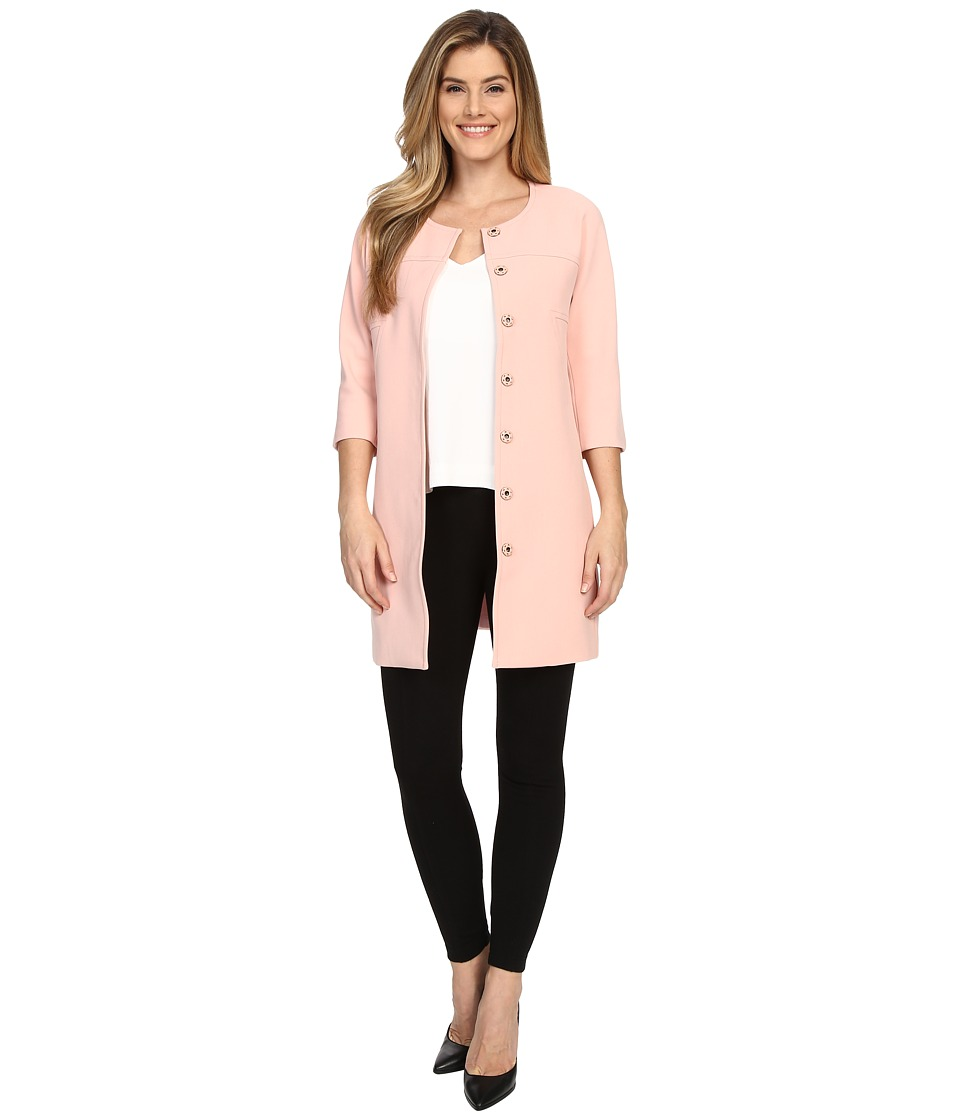 NYDJ - Textured Topper Coat (Rosewater) Women's Coat