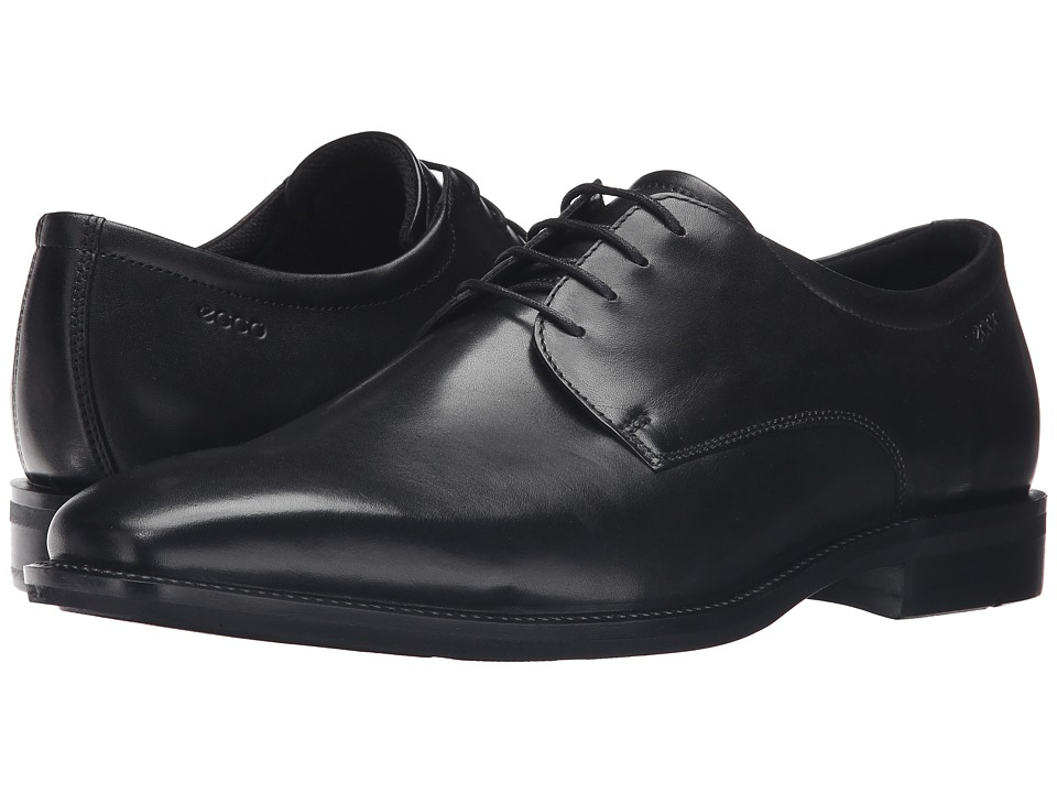 ECCO - Faro Plain Toe Tie (Black) Men's Shoes