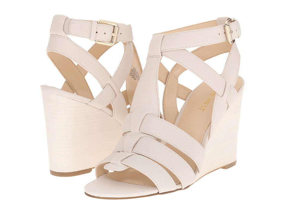 Nine West Farfalla Off-White Leather Shoes