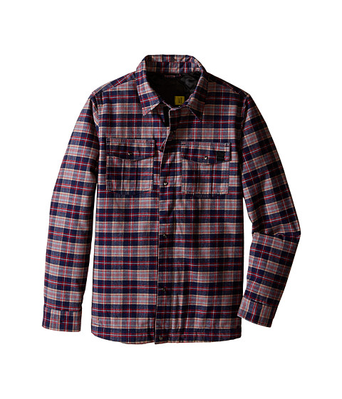 Volcom Kids - Bison Insulated Flannel (Little Kids/Big Kids) (Navy) Boy