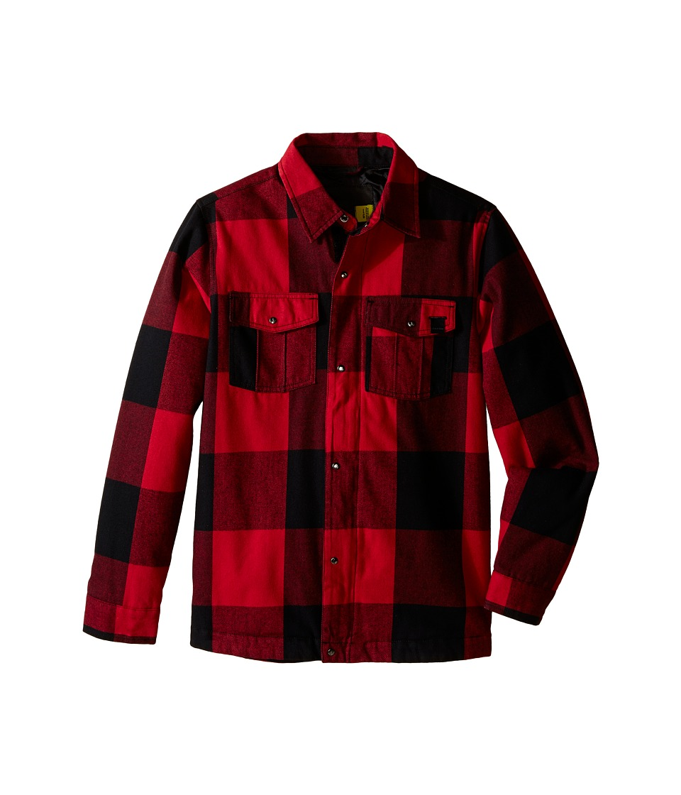 Volcom Kids - Bison Insulated Flannel (Little Kids/Big Kids) (Red) Boy's Jacket