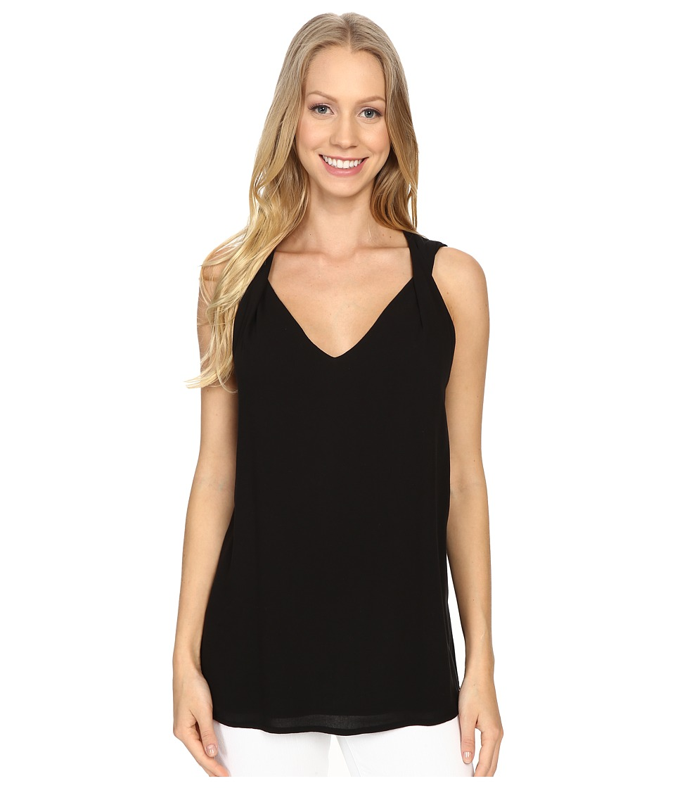 NYDJ - Twisted Strap Tank Top (Black) Women's Sleeveless