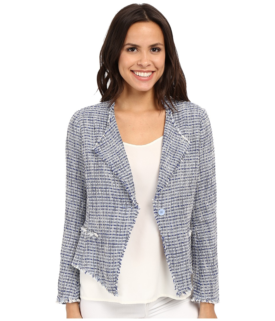 NYDJ - Tweed Fringe Jacket (Rain Cloud) Women's Jacket
