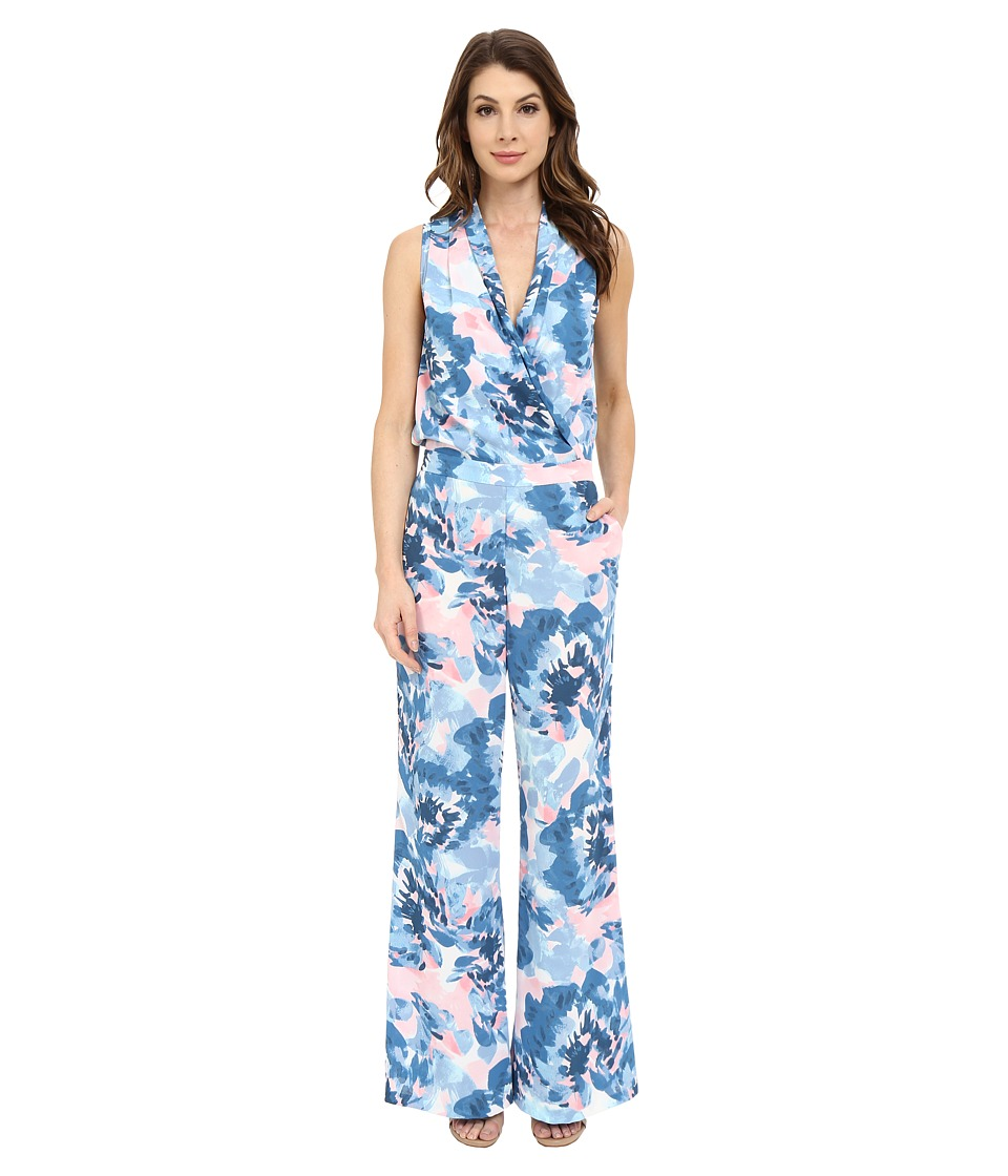 NYDJ - Vivienne Double GGT Jumpsuit (Floral Reflections) Women's Jumpsuit & Rompers One Piece