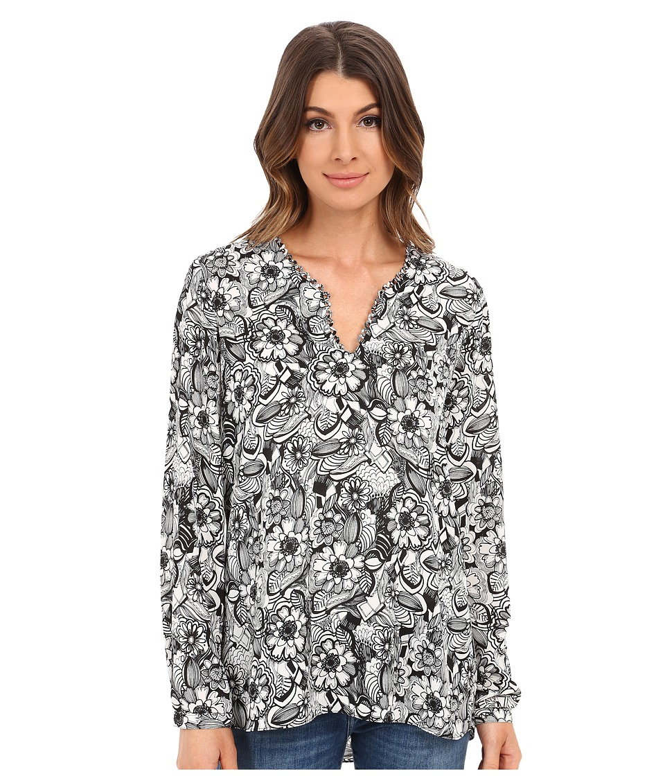 NYDJ - Whimsical Print Tunic (Fleetwood Floral) Women's Blouse