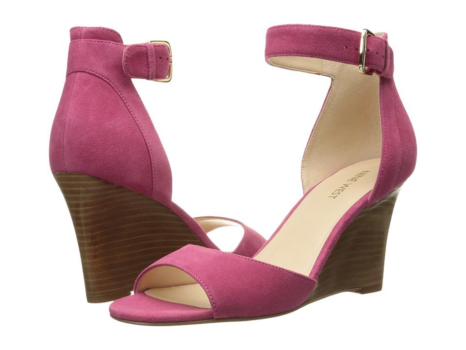 Nine West - Farlee (Dark Pink Nubuck) Women's Wedge Shoes