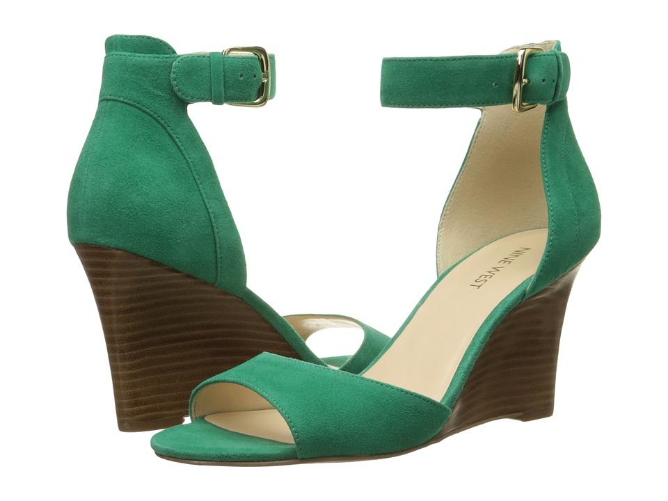 Nine West - Farlee (Green Nubuck) Women's Wedge Shoes