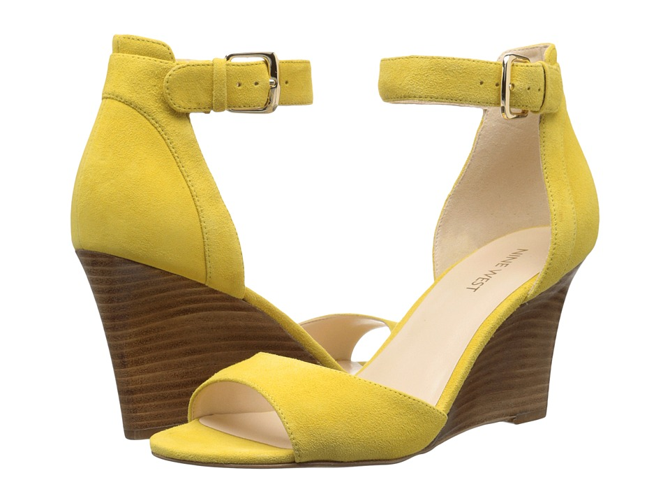 Nine West - Farlee (Yellow Nubuck) Women's Wedge Shoes