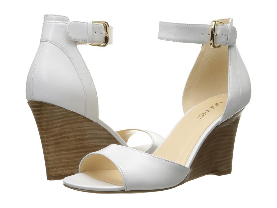 Nine West Farlee (White Leather) Women