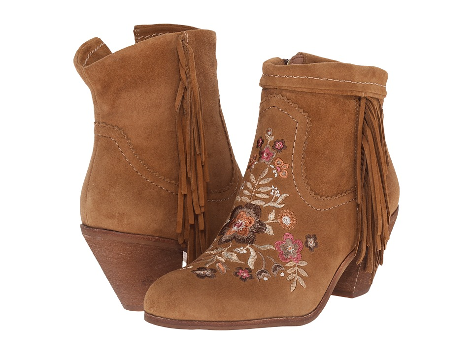 Sam Edelman - Letti (Whiskey Kid Suede Leather/Embroidery) Women