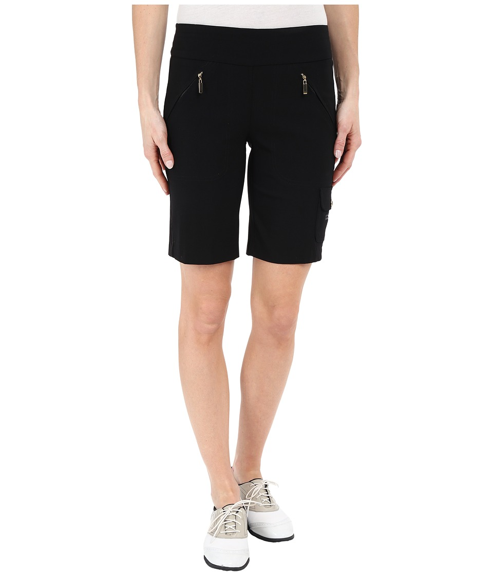 Jamie Sadock - Skinnylicious Mesh Control Top Panel 19 in. Short (Jet Black w/ Gold Zippers) Women's Shorts