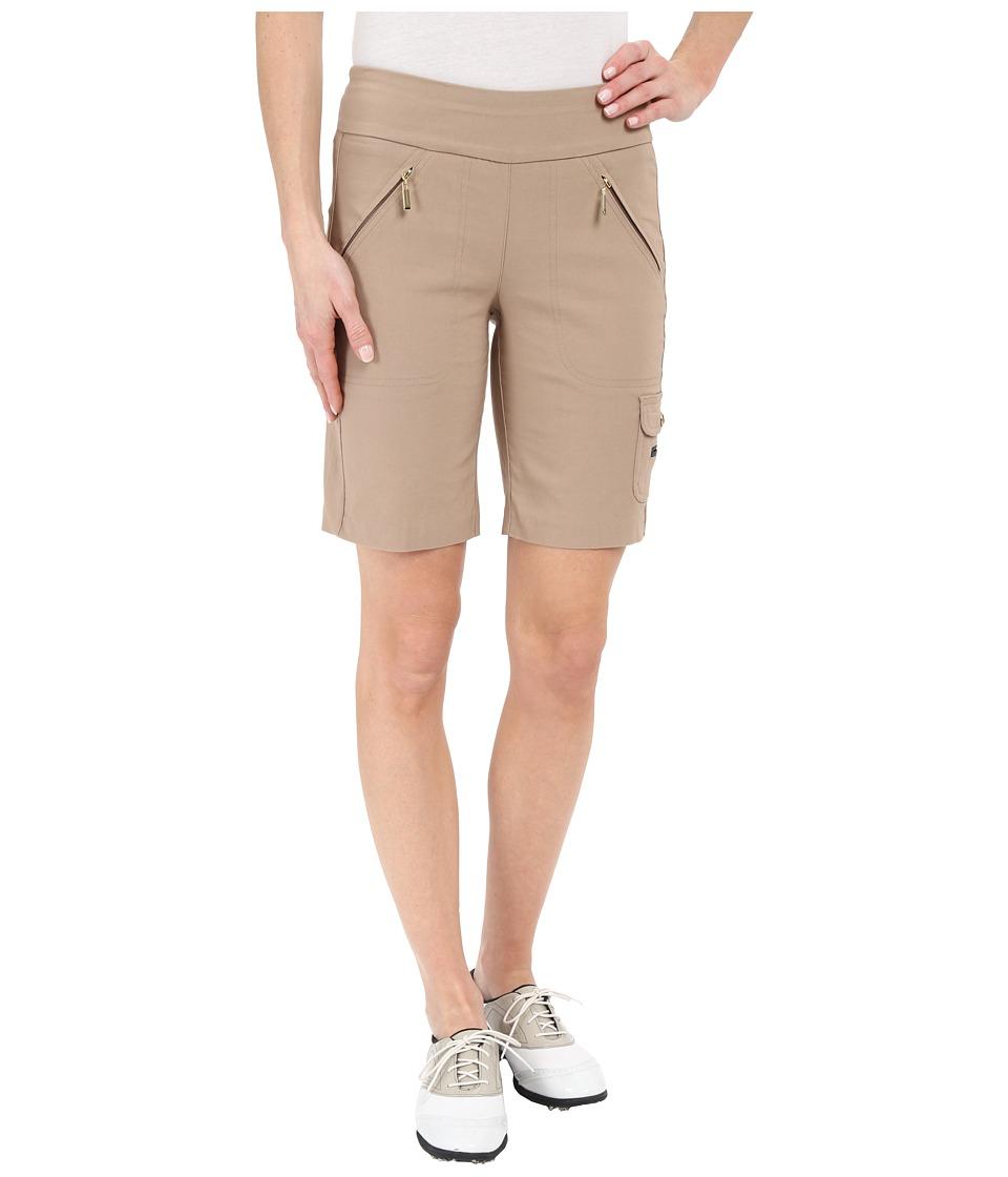 Jamie Sadock - Skinnylicious Mesh Control Top Panel 19 in. Short (Toffee) Women's Shorts
