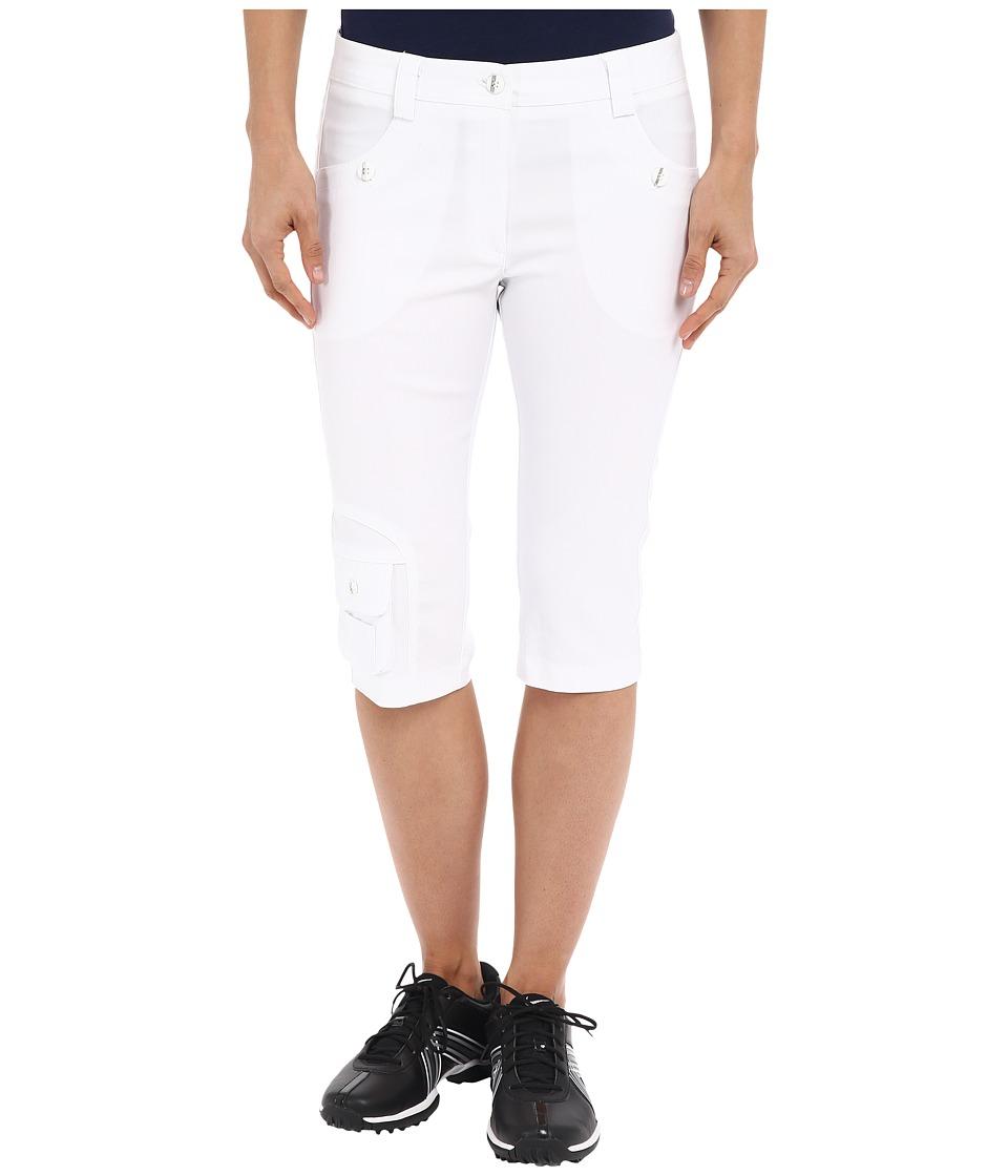 Jamie Sadock - Fly Front 24 Knee Capris (Sugar White) Women's Capri