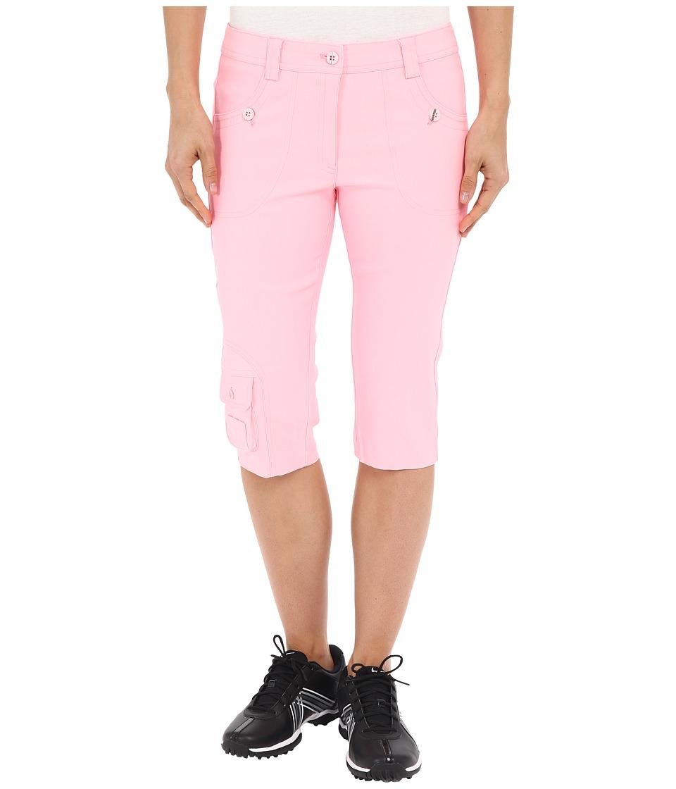 Jamie Sadock - Fly Front 24 Knee Capris (Doll Face Pink) Women's Capri