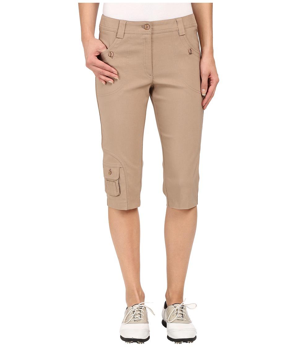 Jamie Sadock - Fly Front 24 Knee Capris (Toffee) Women's Capri