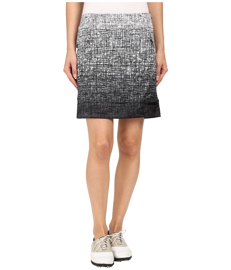 Jamie Sadock - Kashumi Print 18 Skort w/ Side Zipper and Button (Jet Black) Women's Skort