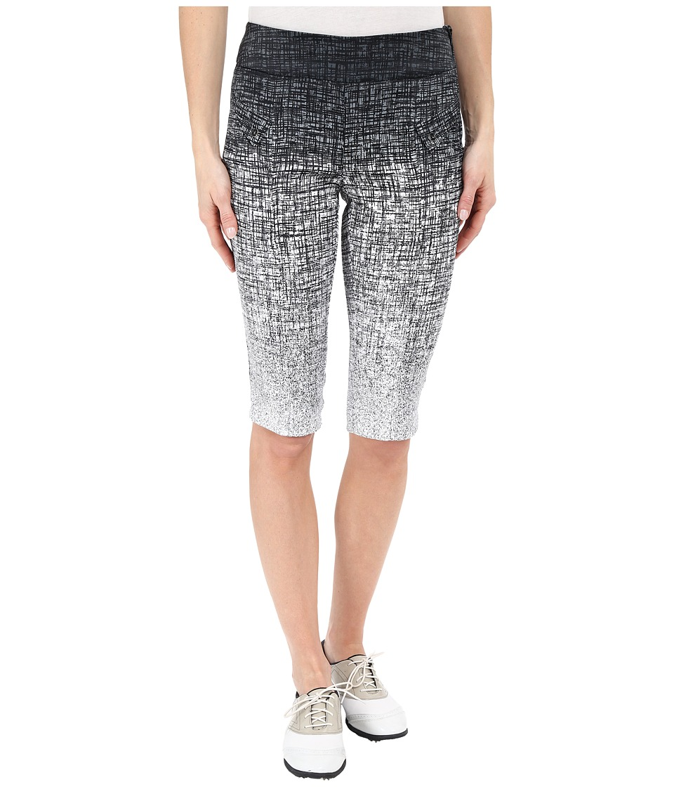 Jamie Sadock - Kashumi Print 24 Knee Capri w/ Side Zipper and Button (Jet Black) Women's Capri