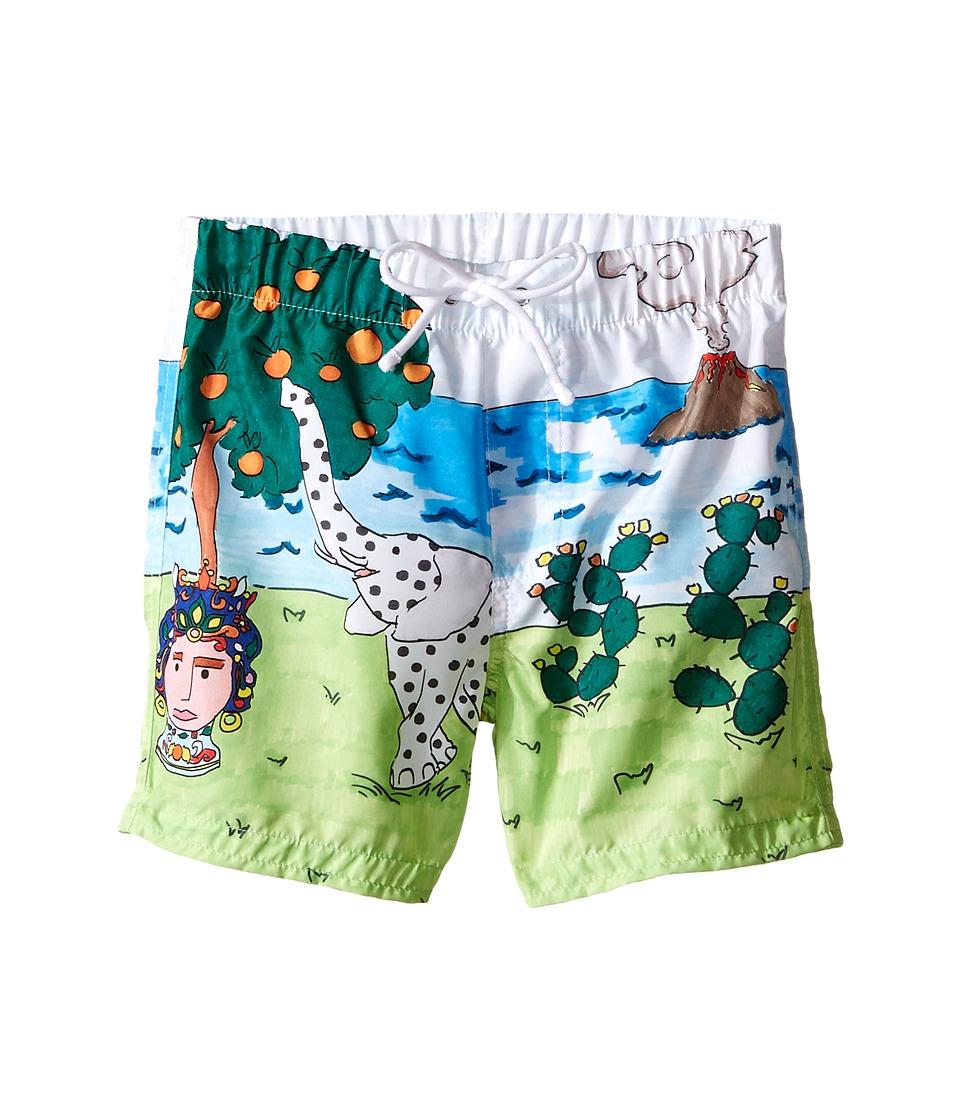 Dolce & Gabbana Kids - Elephant Swimsuit (Infant) (Multi Print) Boy's Swimwear