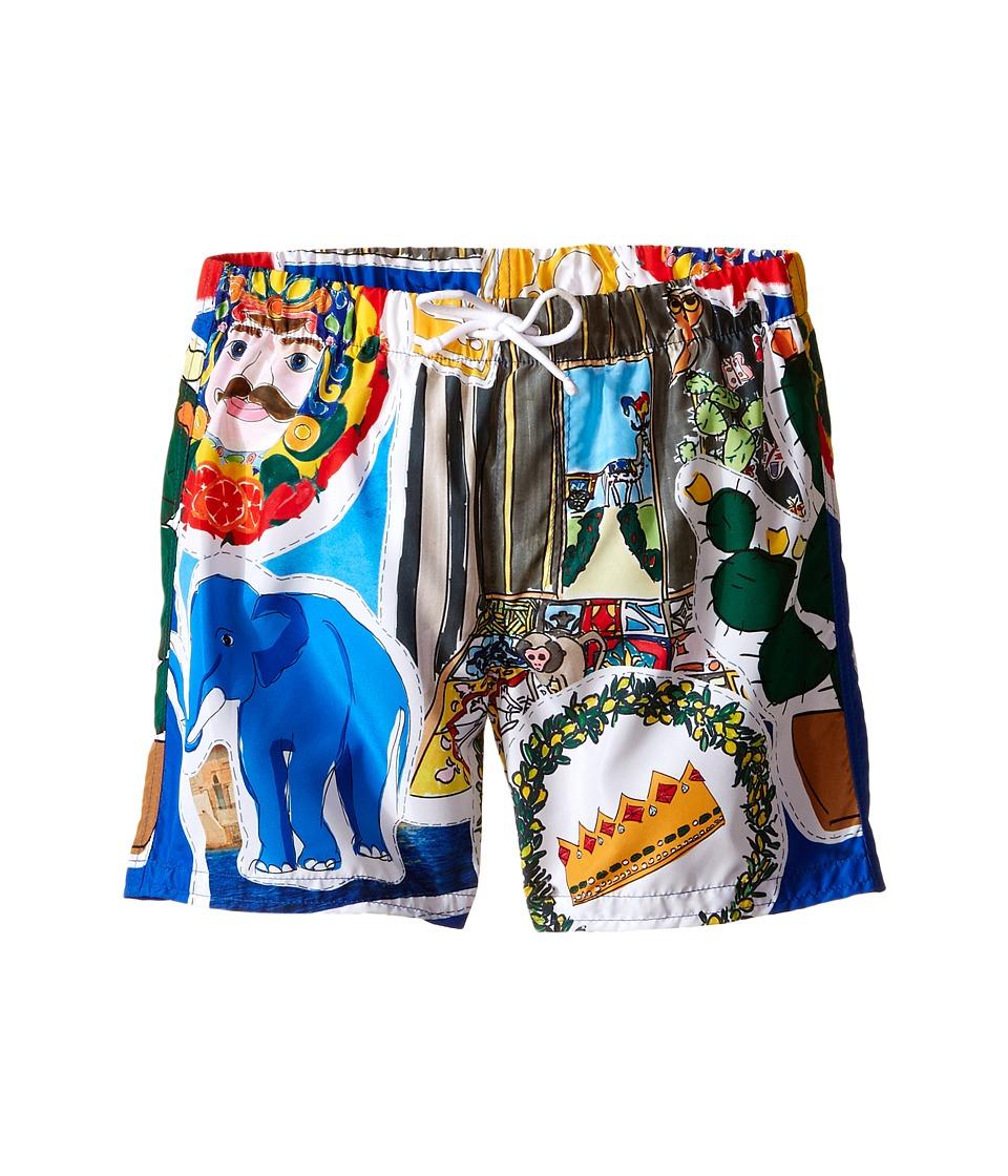 Dolce & Gabbana Kids - Elephant Swimsuit (Toddler/Little Kids) (Multi Print) Boy's Swimwear