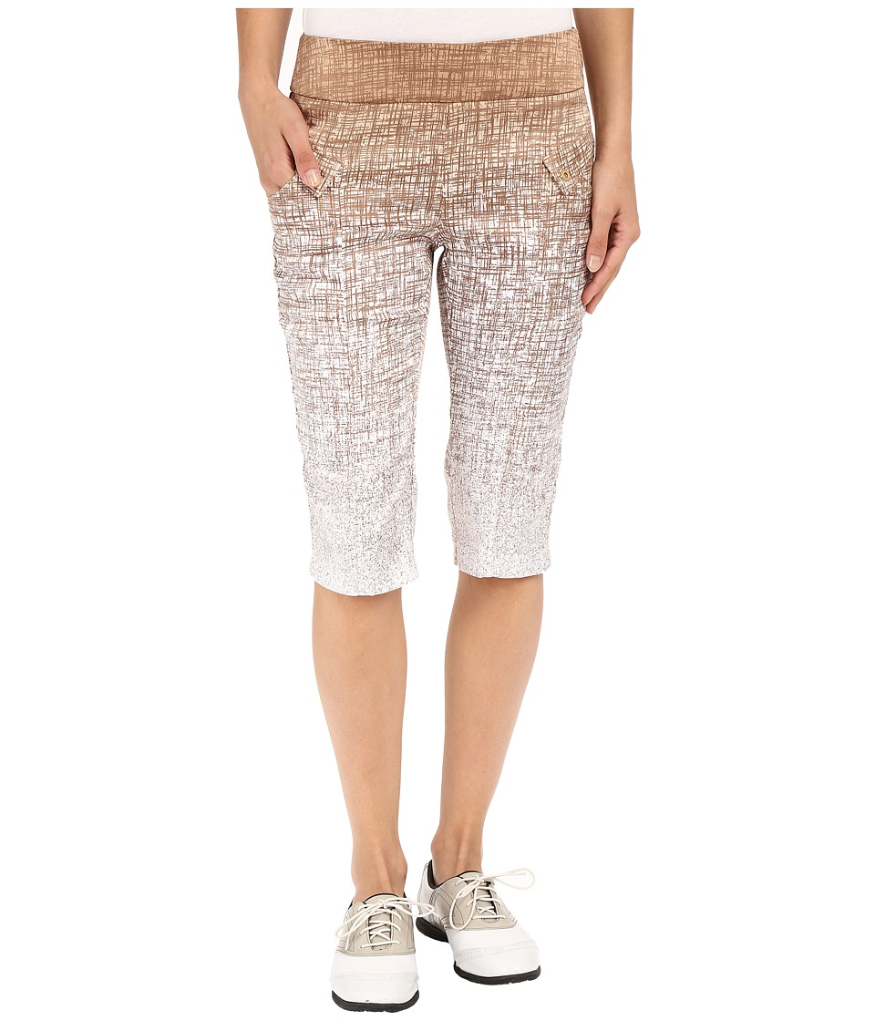 Jamie Sadock - Kashumi Print 24 Knee Capri w/ Side Zipper and Button (Frappe) Women's Capri