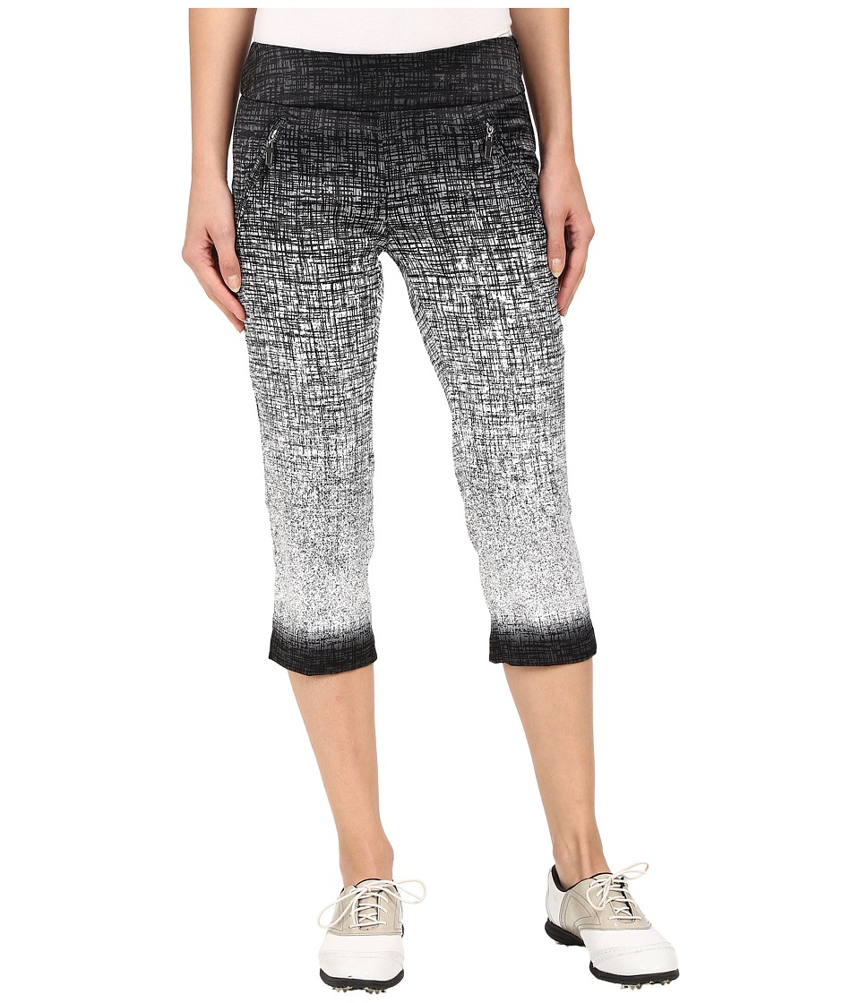 Jamie Sadock - Kashumi Print 28 Pedal Pusher w/ Side Zipper and Button (Jet Black) Women's Capri
